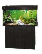 Woha NEGRO - Оборудван аквариум с извито панорамно стъкло и рамка на основата - цвят черен - 101 л. - (цената е без шкаф)