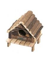 Karlie Hudson -  Дървена къщичка за хамстер и джербил - 14х12х13 см.