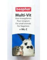 Beaphar Multi Vit - мултивитамини за зайци и други дребни животни - 20 ml.
