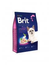 Brit Premium Cat Adult Chicken - Delicate chicken with chicken liver - пълноценна храна за котки над 1 година с пилешко месо - 8 кг.
