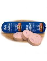 Brit Sausage with Turkey & Rice - салам за кучета над 1 година с 95% пуешко месо и ориз - 0.800 кг.