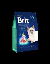 Brit Premium Cat Sensitive - Hypoallergenic lamb - пълноценна храна за котки над 1 година с чувствителна храносмилателна система с агнешко месо и сьомга - 0.300 кг.