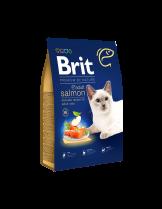 Brit Premium Cat Adult Salmon Delicate salmon and salmon gravy - пълноценна храна за котки над 1 година за красива и здрава козина със сьомга и Омега 6 - 1.5 кг.