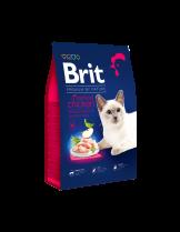 Brit Premium Cat Sterilised - Delicate chicken with chicken liver - пълноценна храна за кастрирани котки над 1 година с пилешко месо и черен дроб - 0.300 кг.