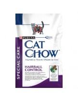 Cat Chow Adult Hairball Control за възрастни котки над 1 година за отделяне на космените топки - 15 кг.