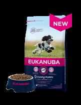 Eukanuba Puppy Medium Breed CHICKEN - високо качествена храна за кученца до 12 месеца от средните породи (10-25 кг.) - 15 кг.
