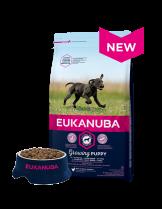Eukanuba Puppy Large Breed CHICKEN - високо качествена храна за подрастващи кученца до 12 месеца от едрите и гигантските породи (над 26 кг) - 15 кг.