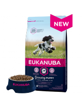 Eukanuba Puppy Medium Breed CHICKEN - високо качествена храна за кученца до 12 месеца от средните породи (10-25 кг.) - 3 кг.