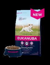 Eukanuba Puppy Small Breed CHICKEN - висококачествена храна за подрастващи кученцата до 12 месеца от малките породи  - 1 кг.