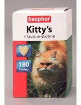 Beaphar Kitty's Taurine+Biotine - Котешки сърчица – добавка към храната за котки над 1 година - нов код 110201 - 75 бр.