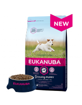 Eukanuba Puppy  Small Breed CHICKEN - висококачествена храна за подрастващи кученцата до 12 месеца от малките породи  - 18 кг.