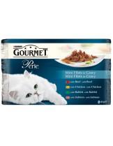Gourmet Perle  - пауч за котки над 1 година - 4 бр. Мини филенца x 85 гр.  - 340 гр.