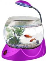 HAILEA кръгъл аквариум MINI V-02 с осветление 1.8 л. - розов