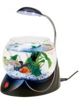 HAILEA кръгъл аквариум MINI V-01 с осветление 2.5 л. - черен