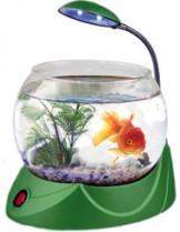 HAILEA кръгъл аквариум MINI V-02 с осветление 1.8 л. - зелен