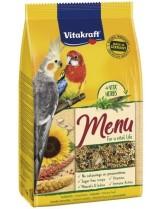 Vitakraft Premium Menu - основна храна за средни папагали и други средни декоративни птици - 1 кг.