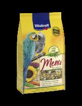 Vitakraft Premium Menu - основна храна за големи папагали съдържаща висококачествени семена, ядки, червена царевица и парченца моркови - 1 кг.