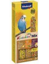 Vitakraft Kraeker Trio Mix klassik honig, ei, frucht  - крекер за вълнисти папагали с мед яйца и плодове - 3 бр. - 117 гр.
