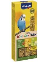 Vitakraft Kraeker Trio Mix klassik feige, sesam-banane, kiwi  - крекер за вълнисти папагали с банан, билки и киви - 3 бр. - 117 гр.