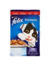 Felix Fantastic with Beef - пауч за котки  говеждо месо в желе - 100 гр.