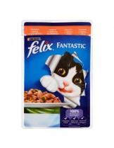 Felix Fantastic with Salmon - пауч за котки с месо от съомга в желе - 100 гр.