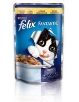 Felix Fantastic with Chicken - пауч за котки  с пилешко месо в желе - 100 гр.