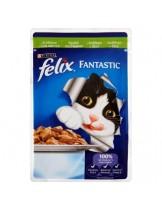 Felix Fantastic with Rabbit - пауч за котки със заешко месо в желе - 100 гр.
