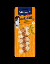 Vitakraft Deli Chews - Лакомства за кучета от телешка кожа - Кокал вързан с пилешко месо - малък S - 5 бр. - 70 гр.