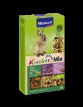 Vitakraft Krecker Trio Mix  - Крекер за мини зайчета с горски плодове, зеленчуци и ягоди - 3 бр. - 213 гр.
