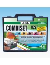 JBL Test Combi Set - мини куфарче с 5 теста за основните показатели на водата в аквариума - pH test 3,0-10,0, Fe test, KH test, No2 test, No3 test