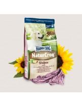 HAPPY DOG  Natur Croq Welpen - Натурална линия суха храна за подрастващи кучета от всички породи с пилешко, царевично брашно и моркови - 15 кг.