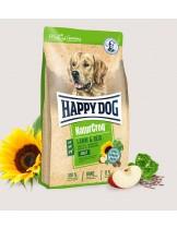 HAPPY DOG  Natur Croq Lamm & Reis - Натурална линия суха храна за израстнали кучета от всички породи с Агне с ориз - подходяща храна  за чувствителни кучета -  15 кг.