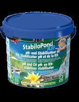 JBL StabiloPond KH - стабилизатор за рН - балансира стойностите на рН в оптималните граници от7,5-8,5, като увеличава КН, абсорбира тежките метали - 250 gr.