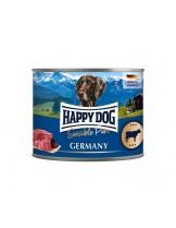 HAPPY DOG - Rind Pur - Високо качествена консерва 100% говеждо месо - без соя, растителни добавки, оцветители или консерванти - 0.200 кг.