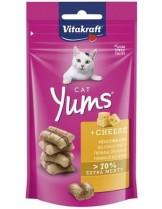 Vitakraft Cat Yums - Сочни хапки за коте с изключително високо месно съдържание и изкусително сирене - 40 гр.
