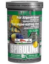 "JBL Spirulina - Основна храна за декоративни растителноядни сладководни и соленоводни риби с 40% спирулина, клас ""Premium"" - люспи - 5,5 l."