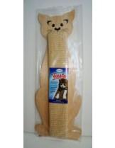 """Fiesta - Драскалка """"Fiesta"""" за котка - с котешка трева или бежава -  бяла - 49 х 18 см."""