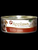 Applaws Chicken Breast - Високо качествена консерва за кучета с месни хапки с пилешко филе в сос - 156 гр.