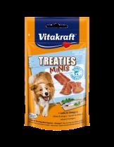 Vitakraft TREATIES MINIS - Лакомства за кучета - сочни хапки със сьомга и омега 3 - 48 гр.