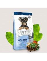 HAPPY DOG Mini Baby & Junior - суха храна за бебета и подрастващи кученца от мини породи до 10 кг. с месо и билки - 4 кг.