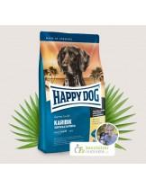 HAPPY DOG Sensible Nutrition Karibik  - Сюприйм Карибик  За чувствителни и алергични кучета над 1 година с морска риба, банани, картофи без глутен - 4 кг.