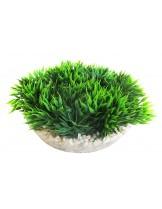 Sydeco -  Medal-shaped Green Moss - Изкуствено аквариумно растение - 13 см. - различни цветове