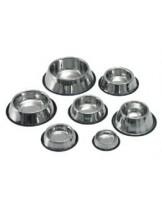 Karlie Bowls stainless steel - дълбока купа за храна и вода за кокер, хром с гумена основа - 0,90 л.