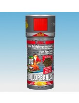 """JBL GoldPearls CLICK - Основна балансирана суха """"Premium"""" храна на перли  за златни рибки с дозатор - 250 ml."""
