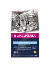 Eukanuba Adult Overweight/Sterilised - за кастрирани възрастни котки и котки над една година с наднормено тегло - 10 кг.
