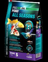 JBL ProPond All Seasons S - високо качествена и отлично балансирана, всесезонна храна за кои и езерни риби до 15 см. - 32 л. - 5.8 кг.