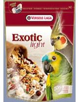 Versele Laga  Exotic Light - висококачествена  отлично балансирана премиум клас храна за големи и средни папагали  с пуканки и семена - 0,750 кг