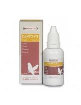 Versele Laga Canto-Vit Liquid - комплекс от витамини аминокиселини, обогатени с вит. Е за добри певчески данни и плодовитост за канари и финки, течен - 30 мл.