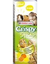 Versele Laga  Crispy Sticks Citrus fruits- лакомство за гризачи крекер с цитрусови плодове за морски свинчета и чинчили - 2 броя по 55 гр.
