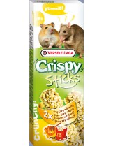 Versele Laga  Crispy  Sticks Honig - лакомство за гризачи крекер с мед за хамстери - 2 броя